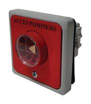 Contacteur à clé pompier avec protection barillet Encastrable