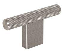 Bouton GRAFF 2 forme T aluminium Inox