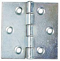 Charnière carrée simple feuille acier zingué