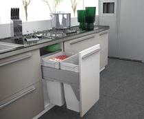 Poubelle coulissante suspendue 70 litres Pour meuble de 600 mm