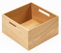 Boîte carrée bois avec poignées pour bloc-tiroir