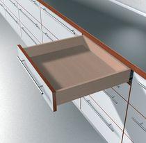 Coulisse invisible pour tiroir bois sortie totale charge 50 kg sans amortisseur BLUMOTION