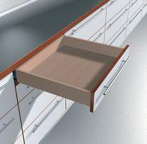 Coulisse invisible pour tiroir bois sortie totale charge 30 kg sans amortisseur BLUMOTION