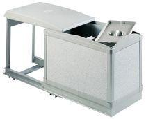 Poubelle coulissante milady 25 litres Pour meuble de 300 mm
