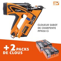 Cloueur sabot de charpente PPN50 Ci + 2 packs de clous