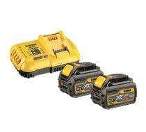 Lot 2 batteries + chargeur XR FLEXVOLT DCB118T2
