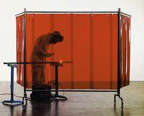 Ecran de protection de soudage 2 bras orange