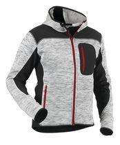 Veste tricotée fashion à capuche 4930 Gris / noir