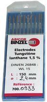 Électrode tunGSTene lanthane 1,5% pour acier et inox