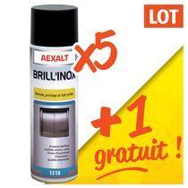 Lot 5 aérosols nett aluminium / inox + 1 gratuit