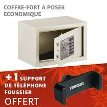 Kit coffre sécurité élect vincennes 2 16,5 l + support de téléphone offert