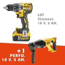 Lot visseuse + perforateur 18 V 5 Ah