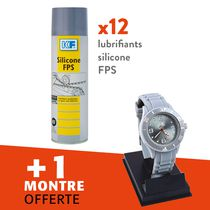 Lot lubrifiants silicone FPS Lot 12 lubrifiants silicone FPS + 1 montre offerte