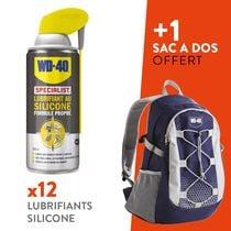Lot 12 lubrifiants au silicone + 1 sac randonnée WD-40 offert