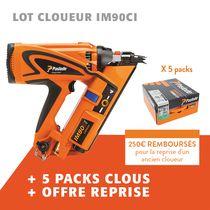 Lot cloueur IM90CI + 5 packs clous + offre reprise
