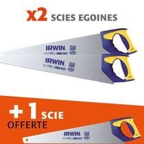 Lot 2 scies égoïnes universelles + 1 offerte