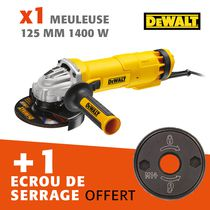 Lot meuleuse 125 mm 1400 W + écrou offert