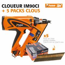 Lot cloueur IM90Ci + 5 packs de clous