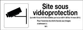 Panneau affichage vidéoprotection