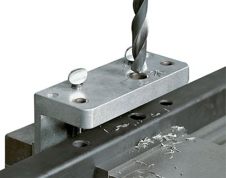Gabarit de perçage pour serrure et gâche LOCINOX pour profil 40, 50 et 60 mm