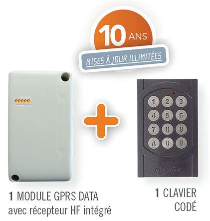 Clavier à code avec module GSM et récepteur HF