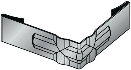 Équerre d'angle acier pour cadre de tapis