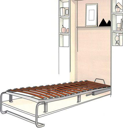 lit escamotable vertical foussier quincaillerie. Black Bedroom Furniture Sets. Home Design Ideas