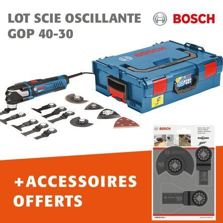 Lot scie oscillante GOP 40-30 + accessoires offerts