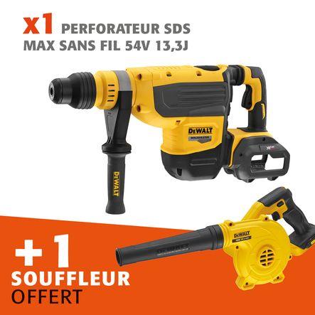 Lot perforateur SDS-MAX sans fil 54 V 13,3 J + souffleur offert