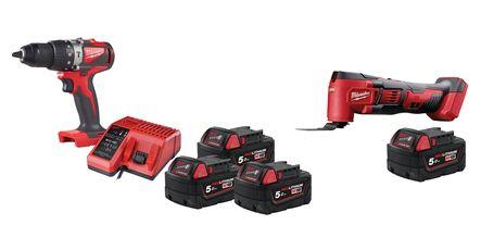 Lot visseuse M18 BLPD2-503X 3x5Ah + scie oscillante BMT-0X + batterie offerte